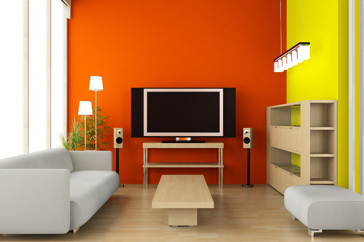 Orange Interior Paint Colors