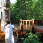 staining a deck in amesbury ma